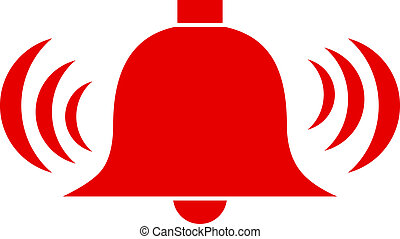 Vector alarm bell isolated on white