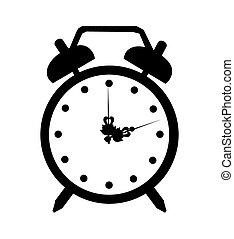 Vector alarmclock icon art iluustration isolated time