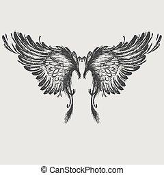 vector, alas, Ilustración