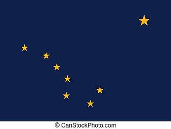 Vector Alaska flag