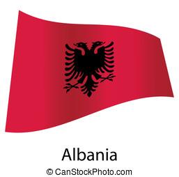 vector albania flag isolated