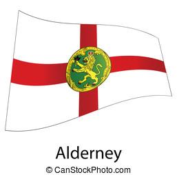 vector alderney flag isolated