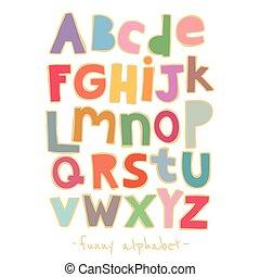 vector, alfabet, papier