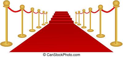 vector, alfombra roja