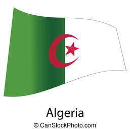 vector algeria flag isolated