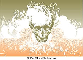 Vector alien skull illustration