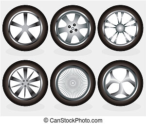 Vector alloy wheel