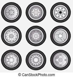 Vector alloy wheels