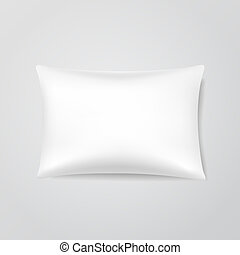 vector, almohada, blanco
