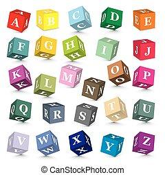 Vector alphabet blocks