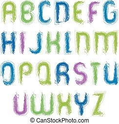 Vector alphabet capital letters