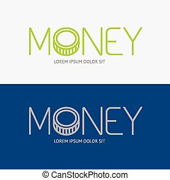 Vector alphabet design money business concept sign icon/ can be used for