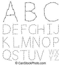 vector alphabet on a white background. Eps10