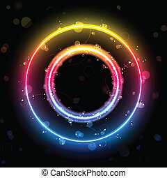 Alphabet Rainbow Lights in Circle Button - Vector - Alphabet...