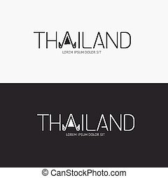 Vector alphabet thailand design concept with flat sign icon/ can be used for travel publishing or web design layout.