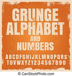 Vector alphabet typography set isolated on white.