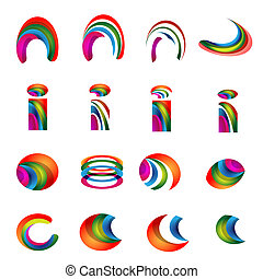 Vector alphabet vibrant logo Designs version 2