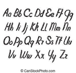 Vector alphabet with texture