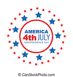 vector american 4th of july style design