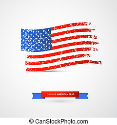 Vector American Flag - Dirty, Grunge