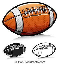 Vector american football ball cartoon