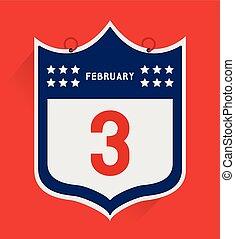 Vector American football championship. February 3.