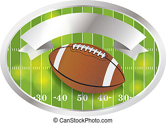 Vector American Football Emblem and Badge - An illustration...