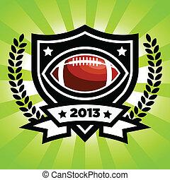Vector American Football Emblem