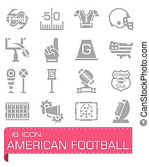 Vector American football icon set