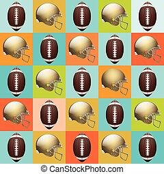 Vector American Football Pattern