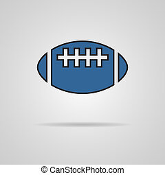vector american football - rugby ball icon