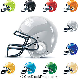 Vector Amfootball/gridiron icon set