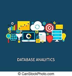 vector, analytics, concept, databank, plat