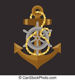 Vector anchor with rope