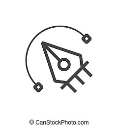 Vector and pen tool icon