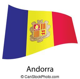 vector andorra flag isolated