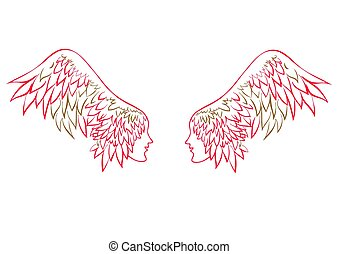 Vector angel wings.