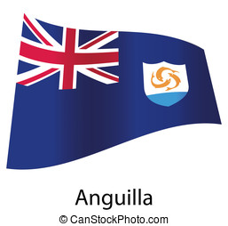 vector anguilla flag isolated