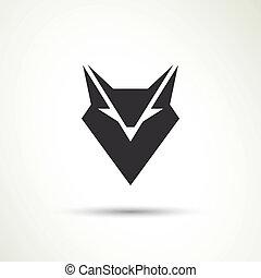 vector, animal, icono