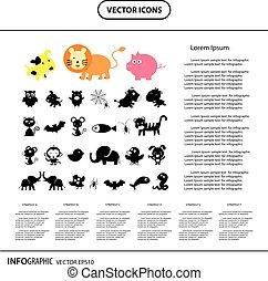 vector animal  iinfo graphic icon