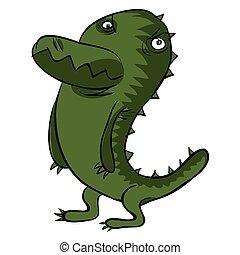 Vector animals. Crocodile character