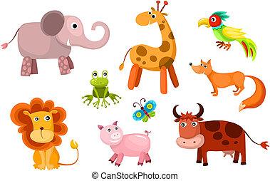 vector animals set