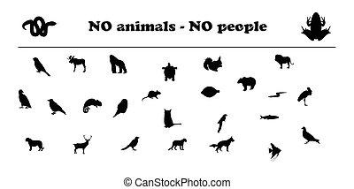 Vector animals silhouettes no animals no people