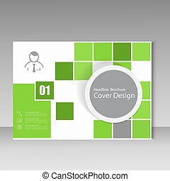 Vector annual report brochure template design