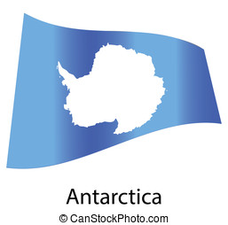 vector antarctica flag isolated
