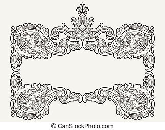 Vector Antique Vintage Frame.