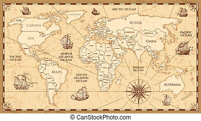 World Map With Country Boundaries World Map On White Background