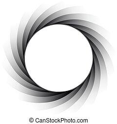Vector illustration of the aperture - exposure diaphragm