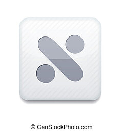 Vector app division white icon. Eps10