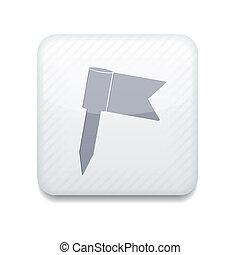 Vector app flag white icon. Eps10